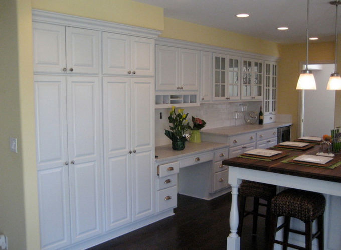 newly painted kitchen cabinets