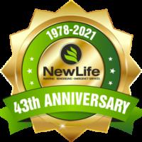 new life anniversary badge
